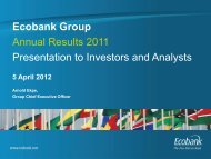 Ecobank Group Annual Results 2011 Presentation to Investors and ...