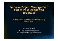 Software Project Management Part 2: Work Breakdown Structures