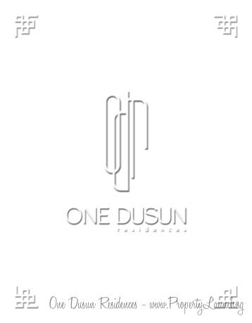 One Dusun Residences - www.PropertyLaunch.sg