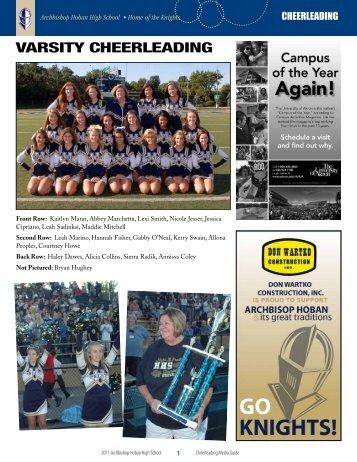 varsity cheerleading - Archbishop Hoban High School