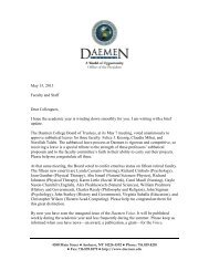 May 15, 2013 Faculty and Staff Dear Colleagues ... - Daemen College