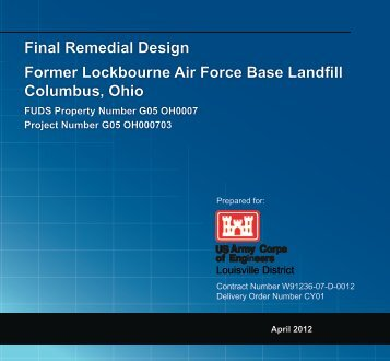 Final Remedial Design-2012 - Louisville District - U.S. Army