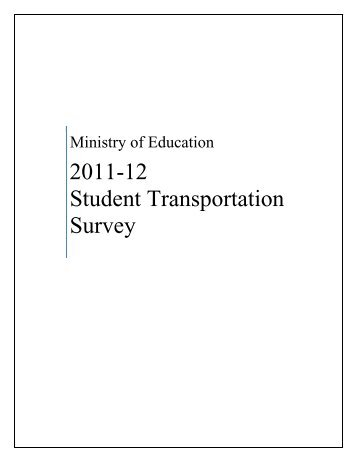 2011-12 Student transportation Survey - Financial Analysis and ...