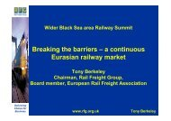 Breaking the barriers – a continuous Eurasian railway market