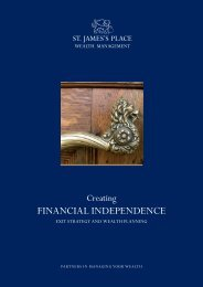 Creating Financial Independence - St James's Place