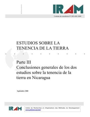 ESTUDIOS SOBRE LA TENENCIA DE LA TIERRA Parte III ... - aGter