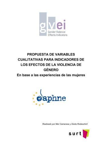 PROPUESTA DE VARIABLES CUALITATIVAS PARA ... - Surt