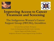Improving access to cancer treatment and screening - Curtin University