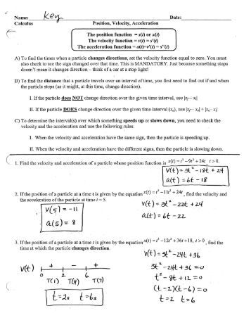 all worksheets velocity acceleration worksheets printable worksheets guide for children and. Black Bedroom Furniture Sets. Home Design Ideas