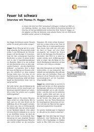 Feuer ist schwarz Interview mit Thomas Fr. Hegger, FVLR
