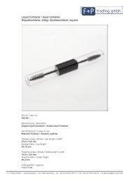 Liquid Container / liquid container ... - Form + Pac GmbH + Co. KG