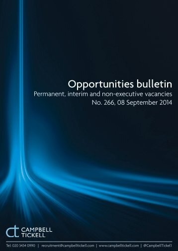CT Opportunities Bulletin 266 080914
