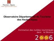 le Devoluy (pdf - 96 ko) - Observatoire du Tourisme