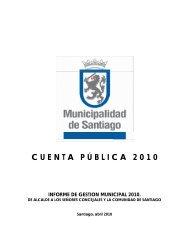 Cuenta Pública 2010 - Intranet Municipal - Municipalidad de santiago