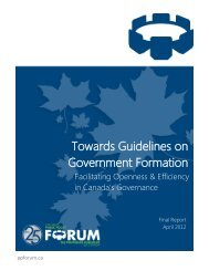 Towards Guidelines on Government Formation - Public Policy Forum