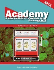 Sponsor/Exhibit/Ad Brochure Download - Academy of Spinal Cord ...
