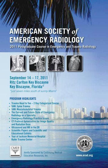 ASER 22nd Annual Scientific Meeting Brochure - American Society ...