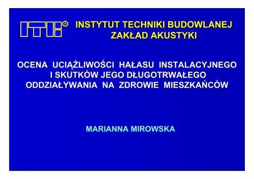 dr inż. Marianny Mirowskiej - WOIIB