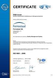 ISO 9001 : 2008 - Ferrostaal