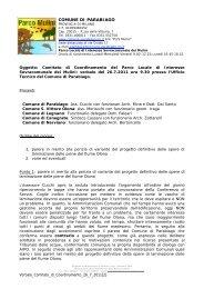 COMUNE DI PARABIAGO - cucchi.org
