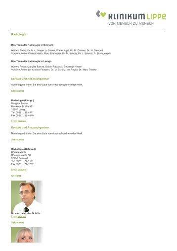 Radiologie - Klinikum Lippe