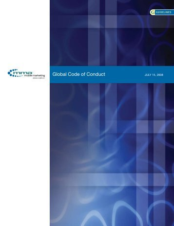 Global Code of Conduct - Mobile Marketing Association