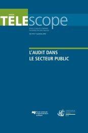 Vol. 18, no 3, automne - L'Observatoire de l'administration publique