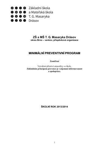 Minimální preventivní program - Základní škola a Mateřská škola TG ...
