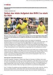 Manchmal ist pure Körpergröße auch nicht alles ... - SC Fortuna Köln