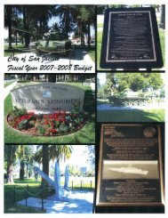 Fiscal Year 2007-2008 - the City of San Jacinto