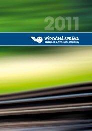 Výročná správa 2011 - ŽSR