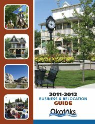 Business & Relocation Guide - Town of Okotoks