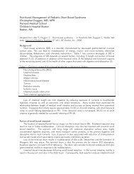Nutritional Management of Pediatric Short Bowel Syndrome ...