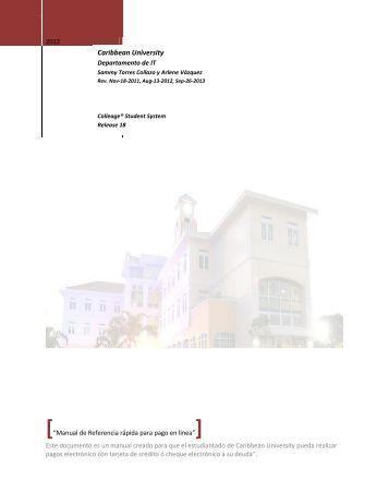 """""""Manual de Referencia rápida para pago en línea"""" - Caribbean ..."""