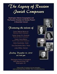 The Legacy of Russian Jewish Composers - Washington Hebrew ...