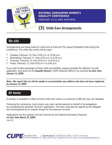 Sample Child Care Application Form - Sample Forms