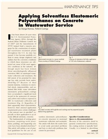 Maintenance Tips: Applying Solvenltless Elastomeric ... - PaintSquare