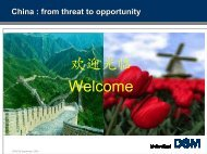 China : from threat to opportunity - KNCV
