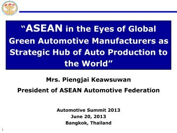 """""""ASEAN in the Eyes of Global Green Automotive Manufacturers as ..."""