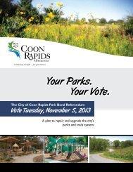 Informational Brochure - August 2013 - City of Coon Rapids Minnesota