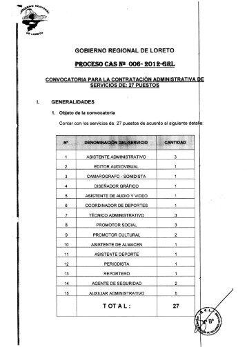 CONVOCATORIA PARA LA CONTRATACIÓN ADMINISTRATIVA E ...