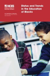 Status and Trends in the Education of Blacks - National Center for ...