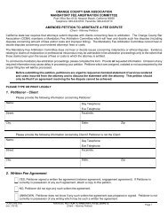 Amended Client v. Attorney Petition - Orange County Bar Association