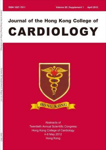 April 2012 Vol.20 supplement 1 - Hong Kong College of Cardiology