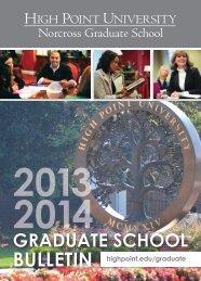 GRADUATE SCHOOL - High Point University