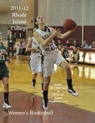 2011-12 Women's Basketball Media Guide - Rhode Island College ...