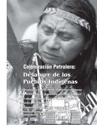 Estrategias para beberse el petróleo indígena - Observatorio Étnico ...