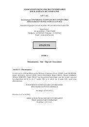 STATUTS AFVAC adoptés CA 091008