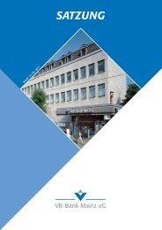 Satzung der VR-Bank Mainz