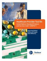 Healthcare Provider Tool Kit - Unspsc